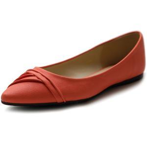 Ollio Women's Shoe Ballet Dress Pleated Pointed Toe Flat