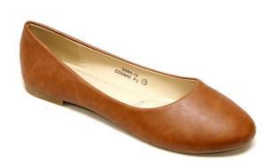 Bella Marie Dana-13 Comfortable Classical Ballerina Flats Rounded Toe PU Boat Slip On shoes