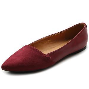 Ollio Women's Shoe Ballet Comfort Faux Suede Flat