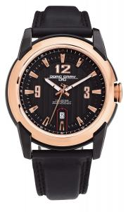 Jorg Gray Leather Black Dial Men's watch #JG9400-23