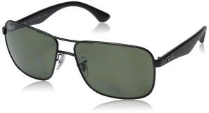 Ray-Ban Men's ORB3516 006/9A62 Polarized Square Sunglasses