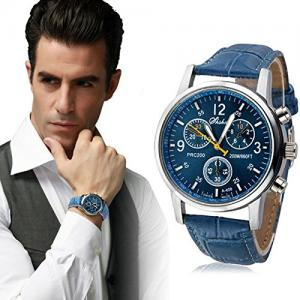 Brand New Fashion Watch Luxury Trendy Analog Dial Black Leather Strap watches Men Quartz Watch High Quality Men Sports Watches wristwatches