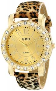 XOXO Women's XO3367 Leopard Patterned Strap Watch