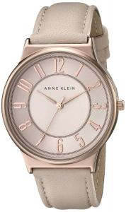 Anne Klein Women's AK/1928RGLP Rose Gold-Tone Watch with Blush Pink Leather Band