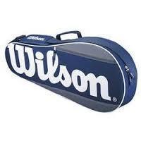 Wilson Tennis Equipment Bag - Holds 3 Rackets - Red/Black