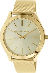 Michael Kors MK3282 Slim Runway Champagne Dial Gold-tone Mesh Women's Watch