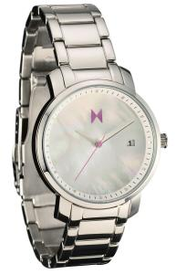 MVMT Watches Women Pearl Dial with Polished Stainless Steel Strap