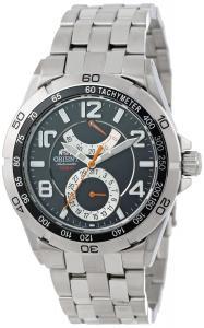 Orient Men's CFM00001B Power Reserve Semi-Skeleton Black Automatic Watch
