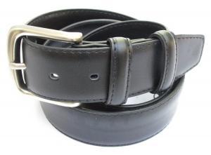 Mens Black Leather Money Belt 1 1/2