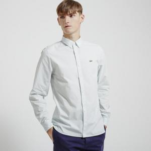 Sơ mi nam Lacoste L!VE POPLIN SOLID WOVEN SHIRT GREENSTONE GREY