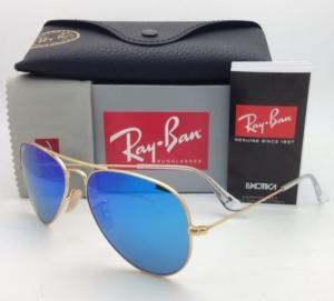 Ray-ban Men's and Women's Sunglasses MOD /Rb3025 112/17 Gold Frame Blue Mirror Lens Aviator 58mm Made in Italy