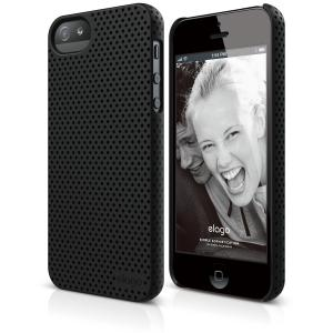 elago S5 Breathe Case for iPhone 5/5S - eco friendly Retail Packaging - Soft Feeling Black