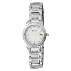 Bulova Women's 96P107 Diamond Accented Dial Bracelet Mother of Pearl Dial Watch