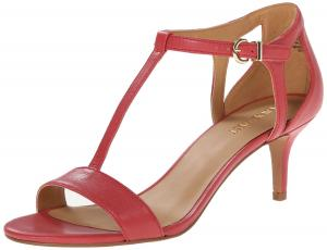 Nine West Women's Grand Leather Dress Sandal Pink/Orange