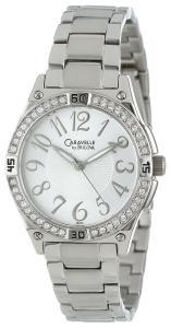 Caravelle by Bulova Women's 43L113 Swarovski Crystal Accented Bracelet Watch
