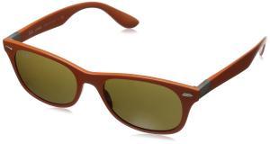 Ray-Ban Unisex Adult Liteforce Rounded Wayfarer Sunglasses in Matte Orange RB4207 609773 52