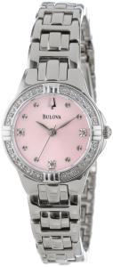 Bulova Women's 96R171 Diamond-Set Case Watch with Link Bracelet