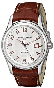 Frederique Constant Men's FC-303RV6B6 RunAbout Brown Leather Strap Watch