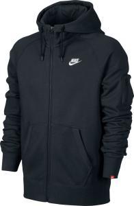 Nike AW77 Fleece Full-Zip Men's Hoodie Black/White 598759-010