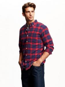 Áo sơ mi nam Slim-Fit Plaid Flannel Shirt