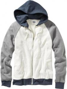 Áo khoác Men's Color-Block Zip-Front Hoodies