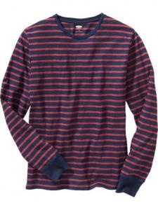 Áo phông Men's Striped Long-Sleeve Tee