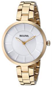Bulova Women's 97L142 Analog Display Japanese Quartz Yellow Watch