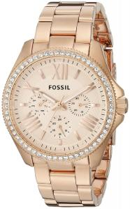 Fossil Women's AM4483 Cecile Multifunction Stainless Steel Watch - Rose Gold-Tone