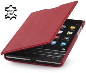 StilGut® Book Type, Genuine Leather Case for BlackBerry Passport, Red Nappa