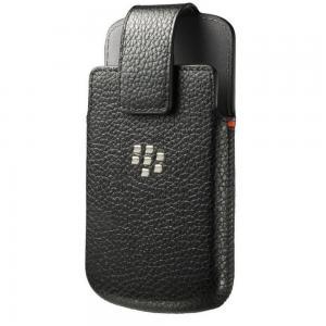 BlackBerry ACC-60088-001 Leather Swivel Holster Case for Blackberry Classic Q20 - Retail Packaging - Black