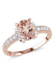 All page MIADORA 0.07 CTW Diamond & Morganite Ring