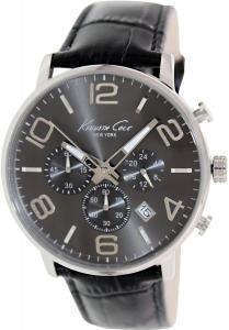 Kenneth Cole New York Men's KC8007 Dress Sport Gunmetal Dial Chronograph Strap Watch