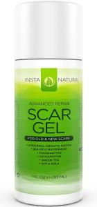 InstaNatural Scar Gel Cream - For Old & New Scars - More Effective than Scar Oil - With Epidermal Growth Factor, Sea Kelp Bioferment, Astaxanthin & More - 1 FL OZ