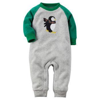 Bộ đồ bé trai Raglan Fleece Jumpsuit