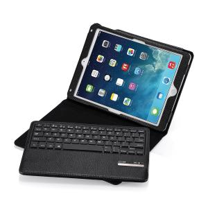 iPad Air Keyboard Case, Poweradd Magnetic Detachable Wireless Bluetooth Keyboard with PU Leather Stand Case Cover with Auto Sleep / Wake Feature for Apple iPad Air / iPad 5 - Black