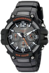 Casio Men's MCW-100H-1AVCF Heavy Duty Design Watch with Black Silicone Band Watch
