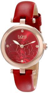 Burgi Women's BUR128RD Analog Display Japanese Quartz Red Watch