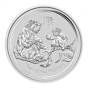2016 Australia Perth Mint 1 oz Silver Year of The Monkey $1 Brilliant Uncirculated