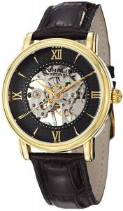 Stuhrling Original Men's 458G2.3335K1 Classic Delphi Chamberlain Mechanical Skeleton Gold-ToneTone Watch