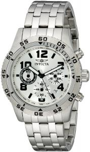 Invicta Men's 1487 Chronograph Silver Dial Stainless-Steel Watch