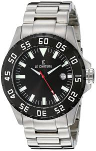 Le Chateau Men's 7075mssmet_blk Dynamo Automatic See-Thru Watch