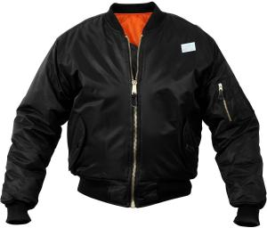 Solid Reversible Air Force Military MA-1 Bomber Flight Jacket with ARMY UNIVERSE® Pin