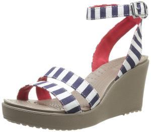 crocs Women's Leigh Graphic Wedge Sandal