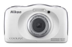 Nikon COOLPIX S33 Waterproof Digital Camera (White)