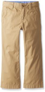 Lacoste Boys' Flat Front Classic Gabardine Chino Pant