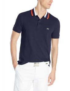 Lacoste Men's Short Sleeve Mini Pique Regular Fit Polo Shirt