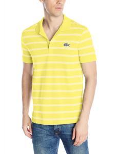 "Lacoste Men's Short Sleeve ""Caviar Croc"" Regular Fit Polo Shirt"