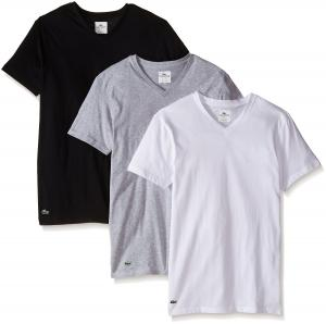 Lacoste Men's 3-Pack Essentials Cotton V-Neck T-Shirt