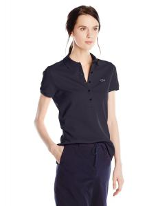 Lacoste Women's Short-Sleeve Stretch Pique Slim-Fit Polo Shirt