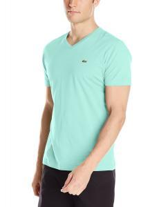 Lacoste Men's Short Sleeve Jersey Pima Regular Fit V Neck T-Shirt